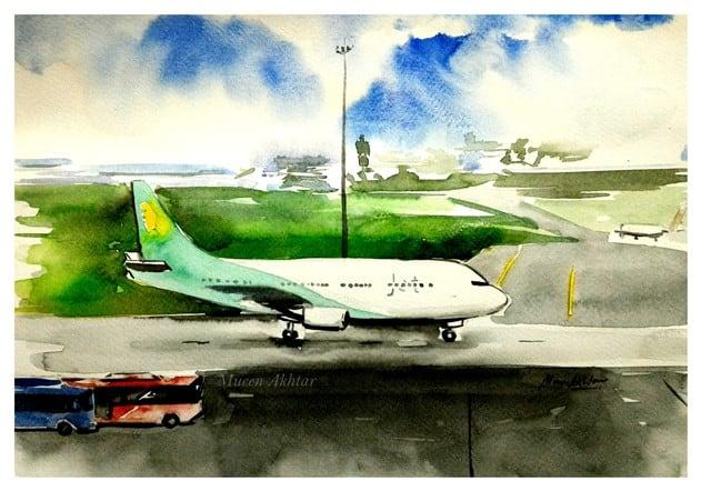 Series of Mueen's Airplane's Painting