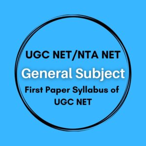 UGC NET First Paper Syllabus